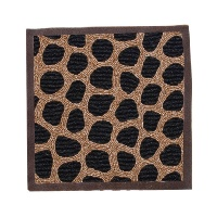15&#8243; Beaded Placemat in Brown Giraffe Print